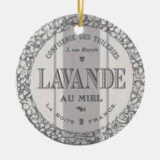 modern vintage French Lavender grain sac Christmas Ornament