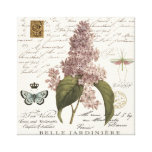 modern vintage French Lilacs Gallery Wrapped Canvas