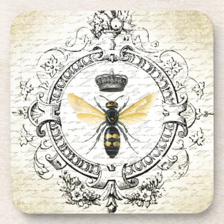 MODERN VINTAGE french queen bee Beverage Coasters