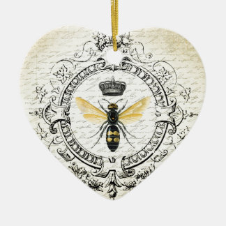 MODERN VINTAGE french queen bee Christmas Ornament