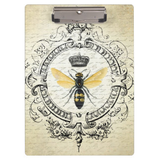 modern vintage french queen bee clipboard