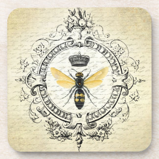 Modern vintage french queen bee drink coasters