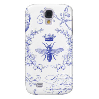 modern vintage french queen bee galaxy s4 case