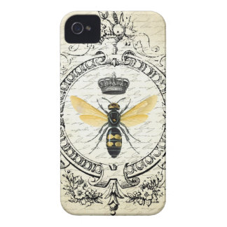 modern vintage french queen bee iPhone 4 cases