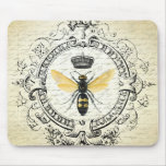 Modern vintage french queen bee mouse pad