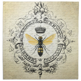 modern vintage french queen bee napkin