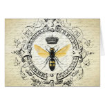 Modern vintage french queen bee note card