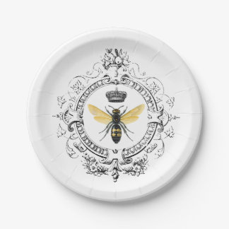 MODERN VINTAGE french queen bee Paper Plate