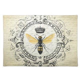 modern vintage french queen bee placemat