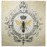 modern vintage french queen bee printed napkin