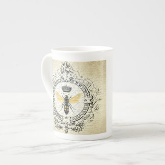 modern vintage french queen bee tea cup