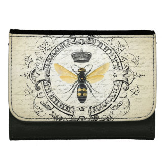 modern vintage French queen bee wallet