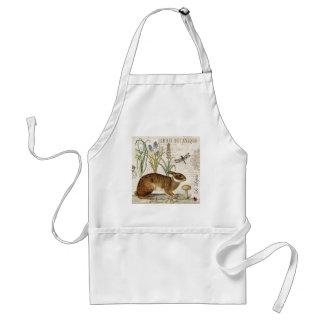 modern vintage french rabbit in the garden standard apron
