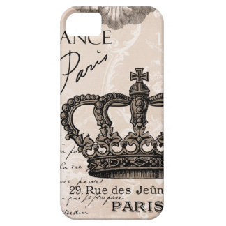 modern vintage french shabby chic crown barely there iPhone 5 case