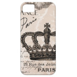 modern vintage french shabby chic crown cover for iPhone 5/5S