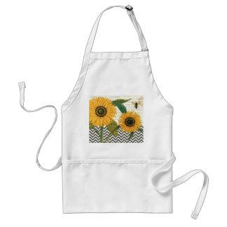 modern vintage french sunflower standard apron