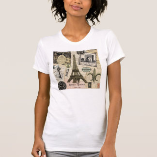 Modern Vintage French travel collage T-Shirt