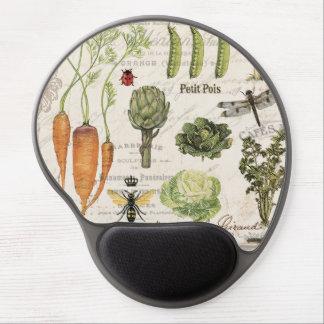 modern vintage french vegetable garden gel mouse mat