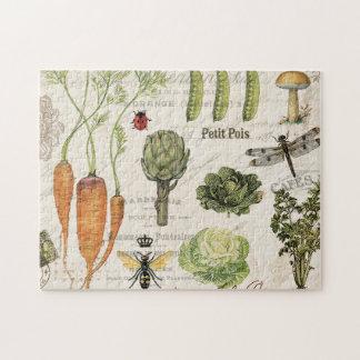 modern vintage french vegetable garden jigsaw puzzle