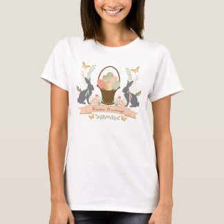 Modern Vintage Graphic Easter collage T-Shirt