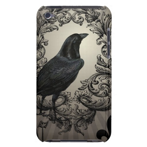 modern vintage halloween crow iPod touch cover