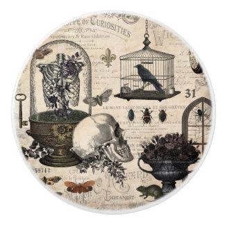 Modern Vintage Halloween Garden Ceramic Knob