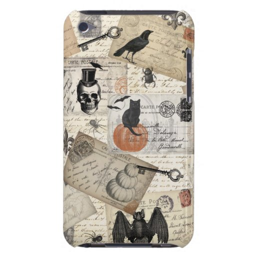 Modern vintage Halloween postcards Barely There iPod Case