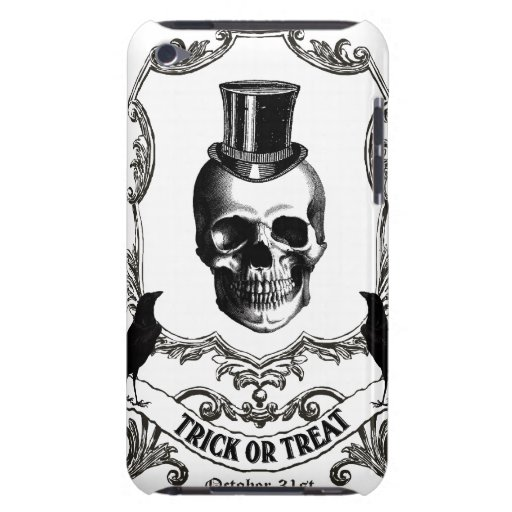 Modern Vintage Halloween skull iPod Touch Cover