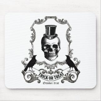 Modern Vintage Halloween skull Mouse Pads