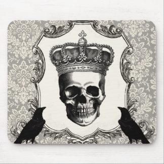 Modern Vintage Halloween skull Mousepads
