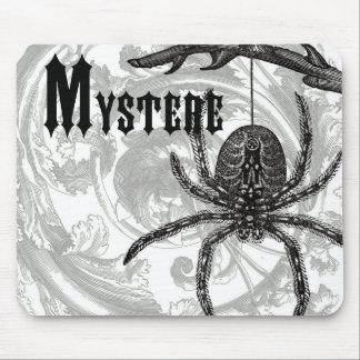 modern vintage halloween tarantula mouse pad