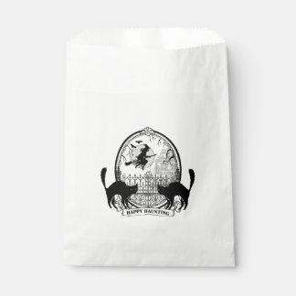 modern vintage Halloween witch and cats Favour Bags