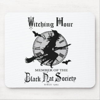 Modern Vintage Halloween witch Mousepad