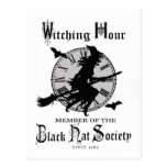 Modern Vintage Halloween witch Post Cards