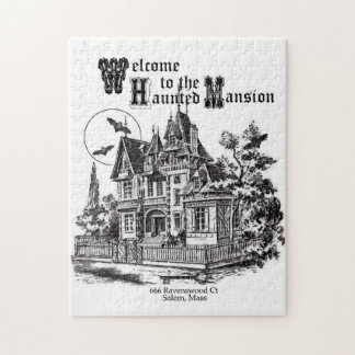 modern vintage haunted mansion jigsaw puzzle