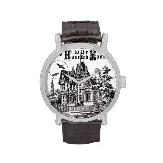 modern vintage haunted mansion wristwatches