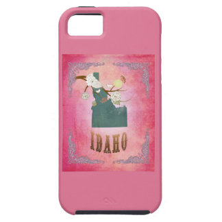Modern Vintage Idaho State Map- Candy Pink iPhone 5 Cover