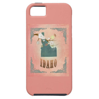 Modern Vintage Idaho State Map- Pastel Peach iPhone 5 Case