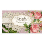 Modern Vintage Lace Tea Stained Hydrangea n Roses Pack Of Standard Business Cards