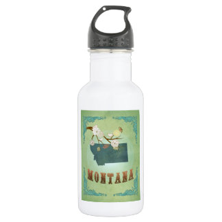 Modern Vintage Montana State Map – Sage Green 532 Ml Water Bottle