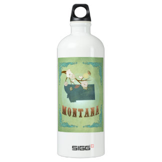 Modern Vintage Montana State Map – Sage Green SIGG Traveller 1.0L Water Bottle