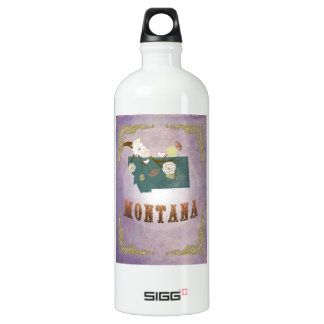 Modern Vintage Montana State Map- Sweet Lavender SIGG Traveller 1.0L Water Bottle
