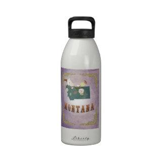 Modern Vintage Montana State Map- Sweet Lavender Water Bottles