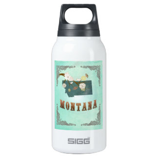 Modern Vintage Montana State Map – Turquoise Blue