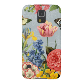 modern vintage multl botanical flowers galaxy s5 cover