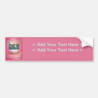 Modern Vintage Pennsylvania State Map- Candy Pink Bumper Sticker