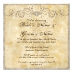 Modern Vintage Peony Floral Swirls Couple Shower Personalized Invite