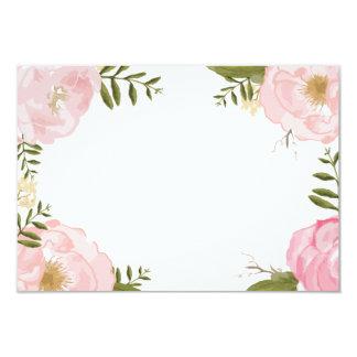 Modern Vintage Pink Floral Wedding Blank Card 9 Cm X 13 Cm Invitation Card