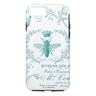 modern vintage queen bee iphone case