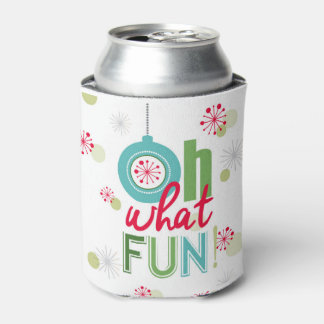 modern vintage retro Christmas typograpahy phrase Can Cooler